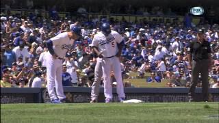 Rays hidden ball trick vs Dodgers 8/10/13