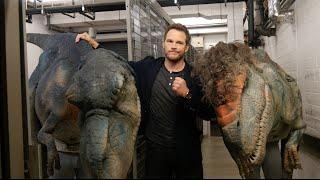 Chris Pratt Gets Pranked By Dinosaur