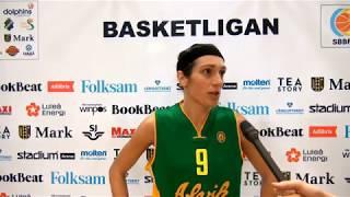 Intervju med Alviks Ilaria Zanoni efter segermatchen mot Udominate