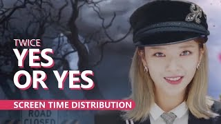 Video TWICE 트와이스 - YES OR YES complete MV | Screen Time Distribution MP3, 3GP, MP4, WEBM, AVI, FLV Mei 2019