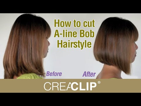 How to cut A-line Bob Hairstyle - Aline bob haircut!