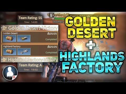 GOLDEN DESERT + HIGHLANDS FACTORY FAST COMPLETE - TIPS! - LifeAfter