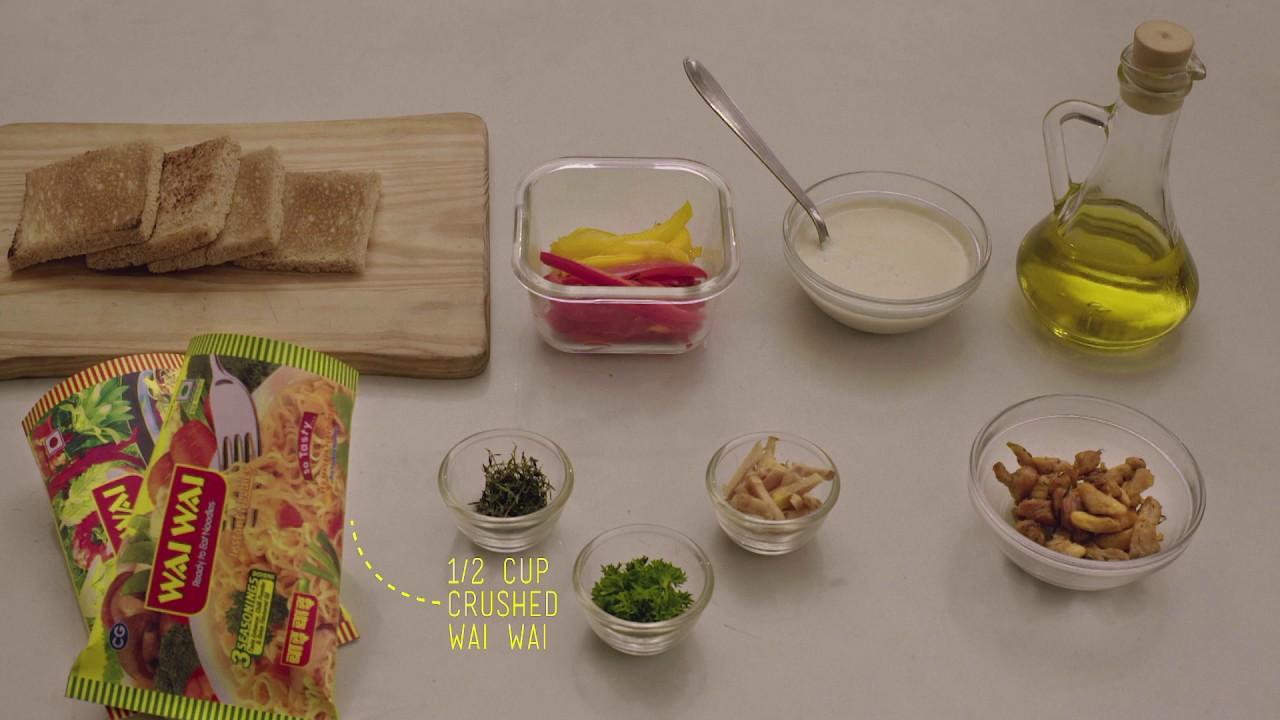 Wai Wai Chicken Tostadas Recipe, Haryanvi Style!