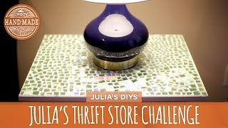 Julia's Thrift Store Challenge: Mosaic Tabletop - HGTV Handmade - YouTube