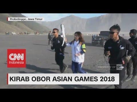 Obor Asian Games Tiba di Gunung Bromo