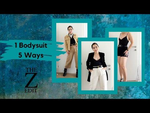 1 Bodysuit, 5 Ways | How To Style | The Z Edit
