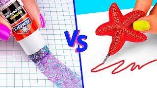 Video 10 DIY Mermaid School Supplies vs Fairy School Supplies MP3, 3GP, MP4, WEBM, AVI, FLV Juli 2019