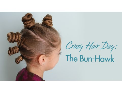 The Bun-Hawk | Crazy Hair Day | Cute Girls Hairstyles
