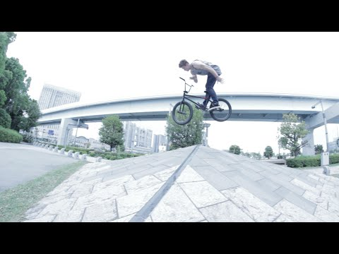Hip - Stevie casually throws a double b's over a hip in Tokyo.