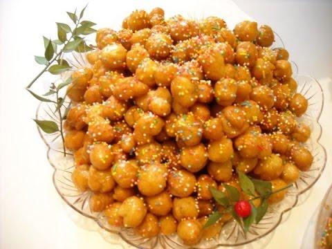 struffoli al miele - ricetta