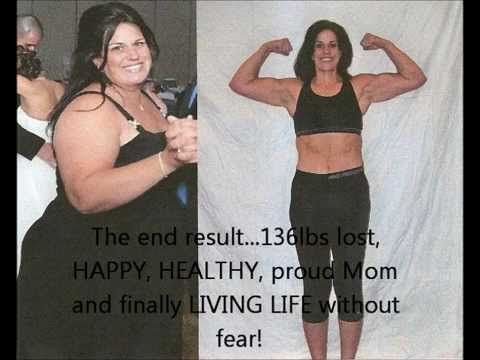 P90X RESULTS – BEST FEMALE TRANSFORMATION 136 lbs lost Kathy Connell McDonald
