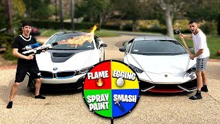 Video If you lose, you HAVE to spin the MYSTERY WHEEL.. (Super Car DESTROYED) MP3, 3GP, MP4, WEBM, AVI, FLV Juni 2019