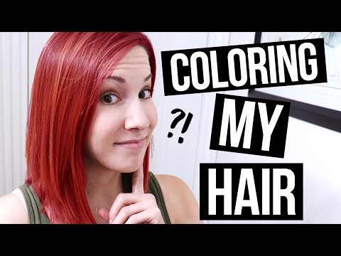 Hair color - Dyeing My Hair Red!!