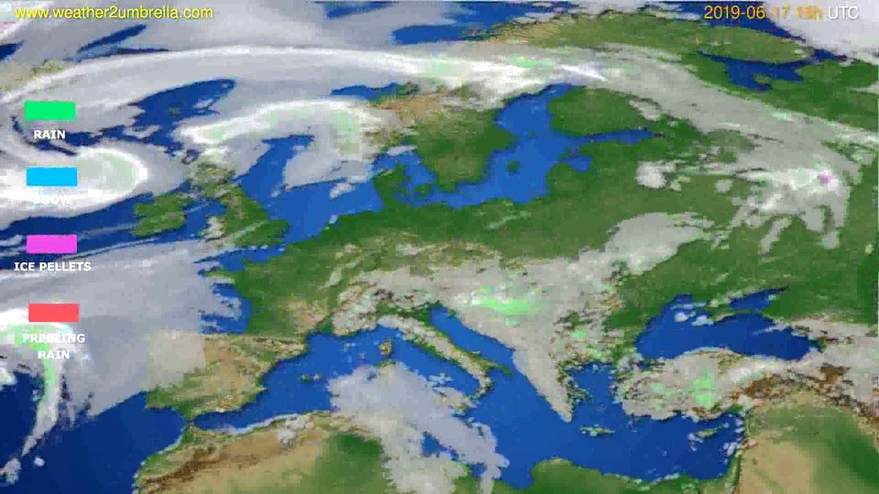 Precipitation forecast Europe // modelrun: 12h UTC 2019-06-14