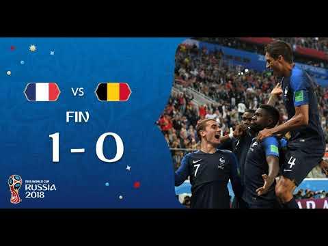 Al borde del área Francia vs Bélgica