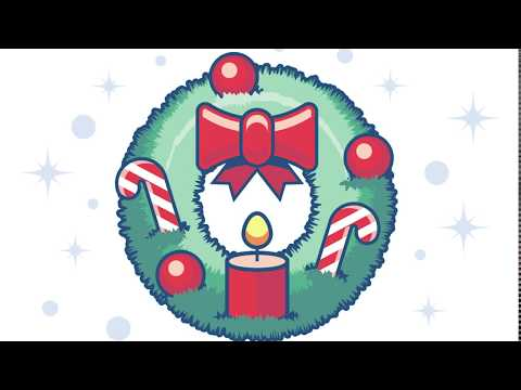 Adobe Illustrator Tutorial Christmas Wreath, With Candle, Candy And Ornament