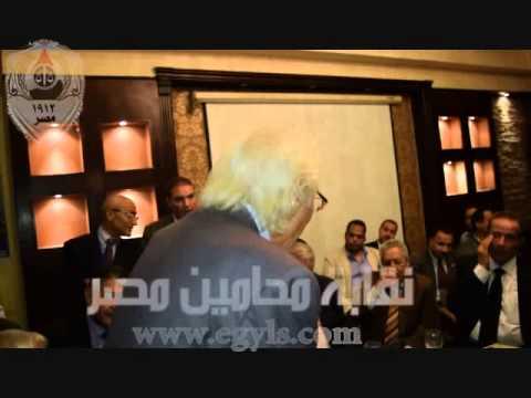 رأفت نوار احد شيوخ المحامين بالاسكندرية بعد حفل افطار اسكندرية بحضور عاشور
