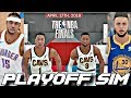 EVERYONE'S IN THEIR PRIME IN THE 2018 PLAYOFF SIMULATION ON NBA2K18!!!