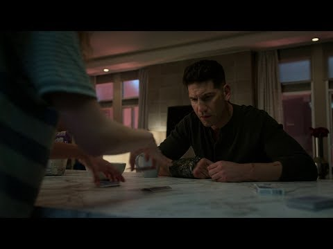 Marvel's The Punisher Season 2 Frank&Amy 'You're Cheating!''  Card trick scene [1080p]