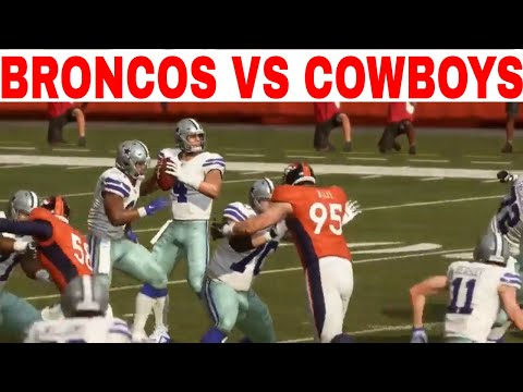Madden 19 Online Gameplay (Denver Broncos vs Dallas Cowboys)