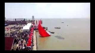 Tanjung Balai Karimun Indonesia  city photo : Bendera terbesar di indonesia rekor muri (tanjung balai karimun)