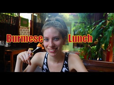 Burmese Set Lunch in Siem Reap, Cambodia