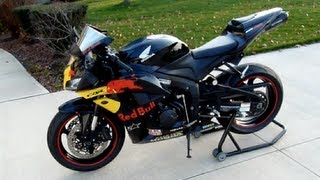 10. 2008 Honda CBR600rr Review - Red Bull Graphics - Two Brothers Black Series Exhaust
