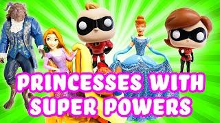 Video Incredibles 2 Elastigirl & Mr Incredible give Disney Princesses Super Powers! w Belle & Rapunzel! MP3, 3GP, MP4, WEBM, AVI, FLV September 2018
