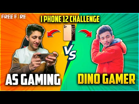 As Gaming Vs Dino Gamer   I Phone Challenge In Real Life😂  Crying Moment Who Won?- Garena Free Fire