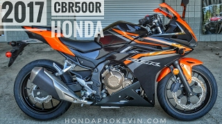 4. 2017 Honda CBR500R Review of Specs | CBR Sport Bike / Motorcycle Walk-Around Video | Orange
