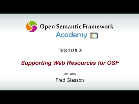 Open Semantic Framework Web Resources