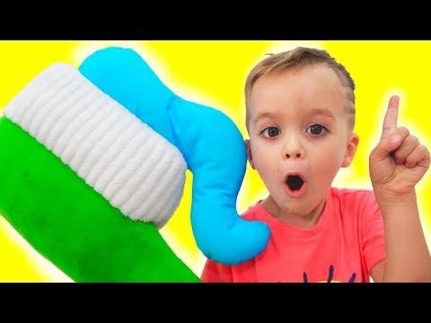 Brush Your Teeth! Kids Song Nursery Rhymes from Vlad and Nikita