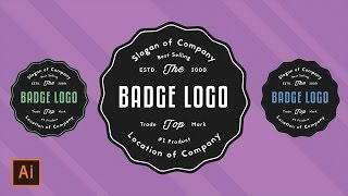 Illustrator Tutorial - Simple Classic Badge Logo (Illustrator logo tutorial for beginners) Thanks for watching! SUBSCRIBE for more design videos! In this Ado...