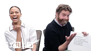 Video Zach Galifianakis & Zoe Saldana Answer the Web's Most Searched Questions | WIRED MP3, 3GP, MP4, WEBM, AVI, FLV Juli 2019
