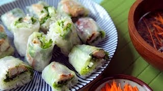 Vietnamese zachte loempia's met makreel