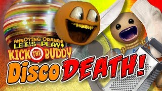 Kick the Buddy: Objects #1 DISCO DEATH!! [Annoying Orange Plays]