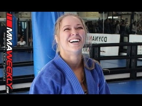 Ronda Rousey Warms Up by Tossing a Jiu-Jitsu Black Belt