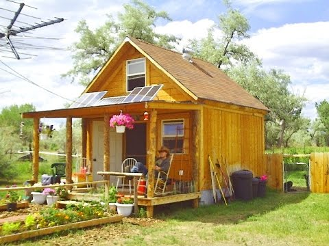 cabin - This is a general overview of how I built my 14x14 solar cabin for under $2000. For complete step-by-step directions, videos, and more project plans includin...