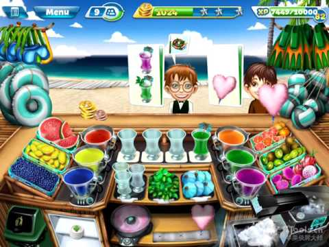 【Cooking Fever】Paradise Cocktail Bar Level 40 (3 Stars)