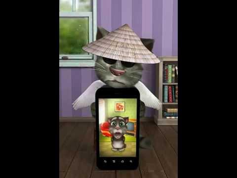 Talking tom - Anh không đòi quà - mèo mun