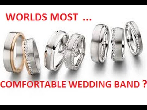 Worlds Most Comfortable Wedding Band Ring Comfort Gold Silver Titanium Diamond Cut Expensive Cheap