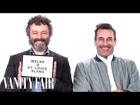 Jon Hamm and Michael Sheen Explain St Louis and Welsh