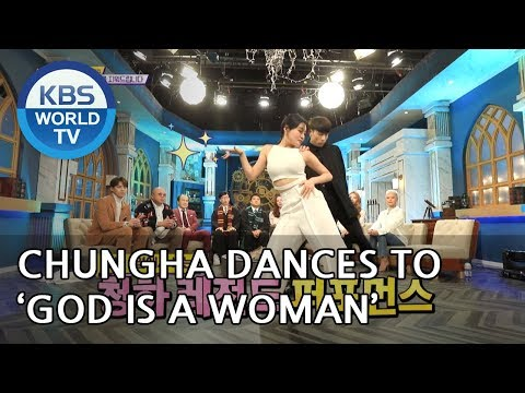 Chungha dances to 'God is a Woman' by Ariana Grande [Happy Together/2019.02.07]
