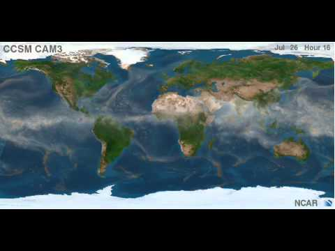 planetary wind - This is a high definition animation of global air circulation created by the Community Climate System Model (CCSM) and the National Center for Atmospheric Re...