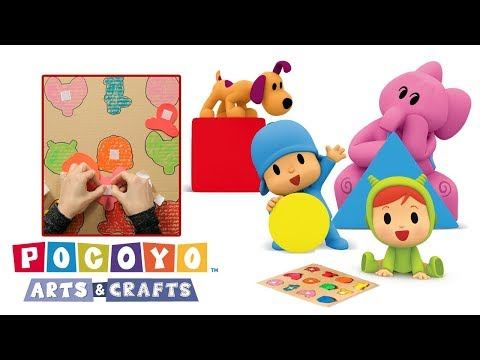 Pocoyo Arts & Crafts: Game of Shapes and Colors Cartoons for Kids