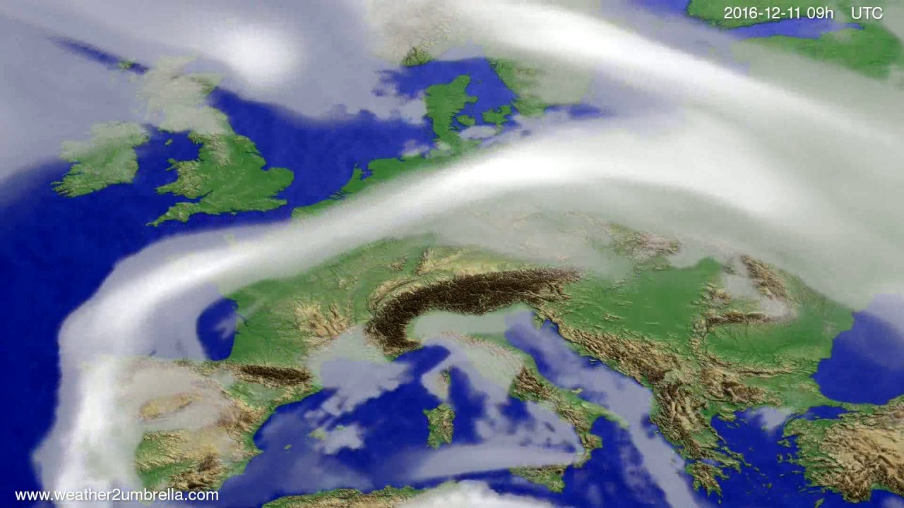 Cloud forecast Europe 2016-12-07