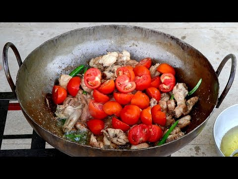 Chicken Karahi Recipe - Pakistan Karachi Street Food - Restaurant style Chicken karahi