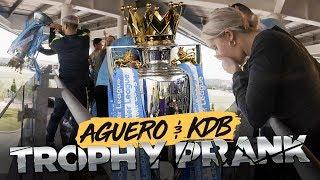 PREMIER LEAGUE TROPHY PRANK! | De Bruyne & Aguero Prank Man City Fans