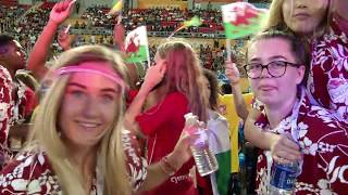 The parade of nations, Bahamian music stars and Junkanoo carnival rhythms herald the start of the VIth Commonwealth Youth Games and a celebration of the Commonwealth's finest young athletes.