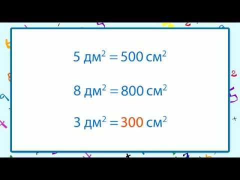сколько децеметров в квадратном метре